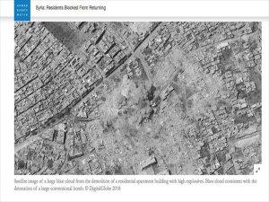 Esad Rejimi Yerlerinden Edilenlerin Evlerini Yıkıyor