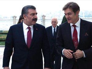 Sağlık Bakanı Koca İle Doktor Mehmet Öz Bir Araya Geldi
