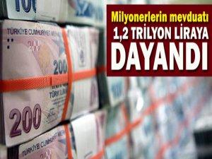 Milyonerlerin Bankalardaki Parası 1,2 Trilyon TL'ye Dayandı