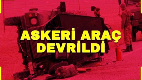 Sivas'ta askeri araç devrildi: Beş asker yaralı