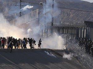 ABD Polisinden Sınırdaki Göçmenlere Gazlı Müdahale