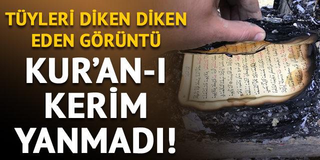 Lojman kül oldu! Kur'an-ı Kerim yanmadı