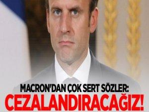 Macron: Olayların Sorumluları Cezalandırılacak