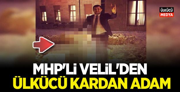 MHP'li vekil meclis bahçesinde yaptı: Ülkücü Kardan Adam