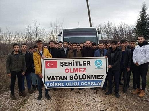 Edirne Ülkü Ocakları Şehidini Unutmadı !