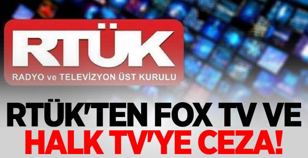 RTÜK'TEN FOX TV VE HALK TV'YE CEZA!