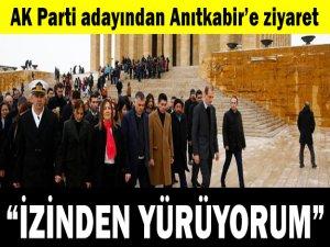 AK Parti Adayı Amber Türkmen'den Anıtkabir Ziyareti
