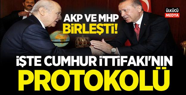 İŞTE CUMHUR İTTİFAKI'NIN PROTOKOLÜ AKP ve MHP birleşti