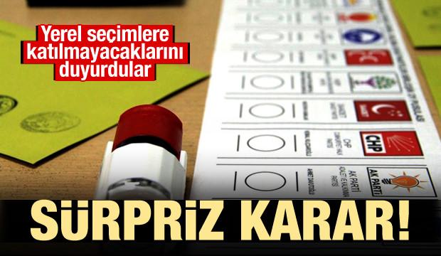 Sürpriz yerel seçim kararı!