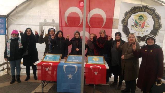 MHP Kadın Kolları'ndan  Doğu Türkistan Sergisi
