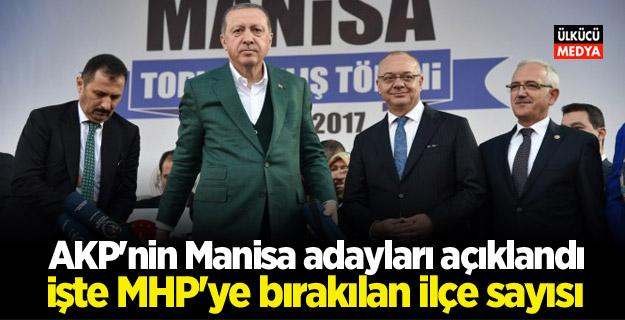 AKP'nin Manisa adayları açıklandı! İşte MHP'ye bırakılan ilçe sayısı..