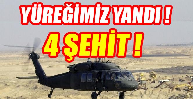 Kaybolan Helikopterin Enkazına Ulaşıldı: 4 Şehit