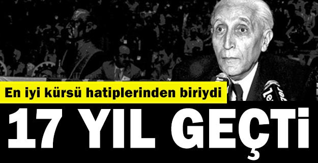 Türk siyasetinde 'Anadolu fırtınası' Osman Bölükbaşı' unutulmadı