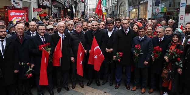 AK Parti ve MHP teşkilatlarından 'Cumhur İttifakı' yürüyüşü