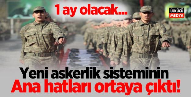 Yeni askerlik sisteminin ana hatları ortaya çıktı!