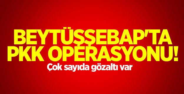 Beytüşşebap'ta PKK operasyonu!