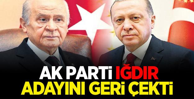 AK Parti Iğdır adayını geri çekti! MHP'ye Bıraktı
