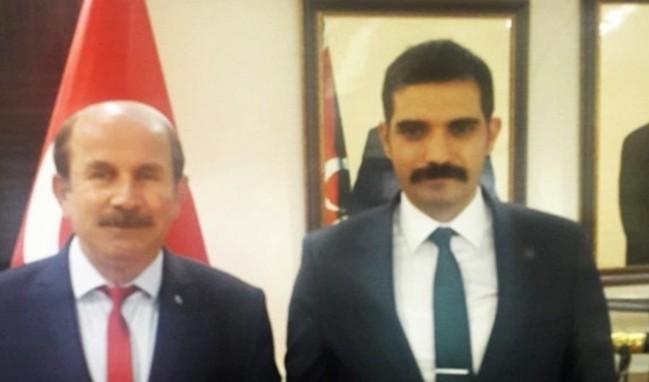 Ankara'da MHP'li Mahir Özel, Başkan Ateş'e ziyarette bulundu