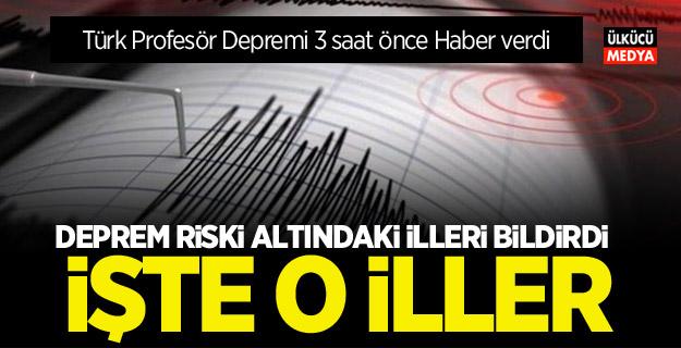 Türk Profesör Depremi 3 saat önce tahmin etti