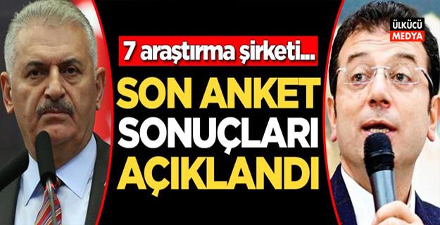 7 araştırma şirketi sonuçlarını açıkladı! İşte İstanbul'da son sonuçlar