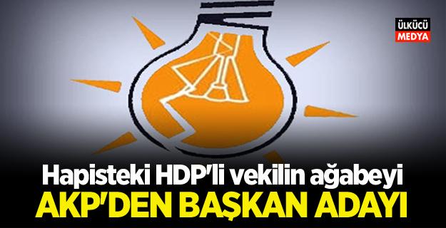 Hapisteki HDP'li vekilin ağabeyi AKP'den aday