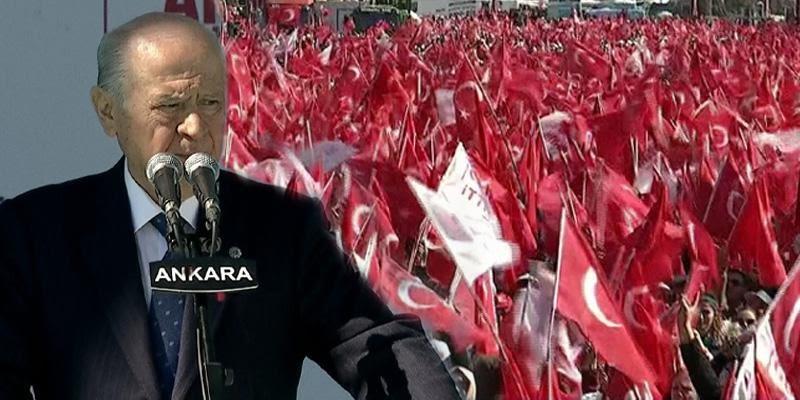 MHP lideri Devlet Bahçeli'den Ankara büyük mitingde dikkat çeken sözler