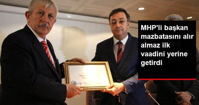 MHP'li Başkan Seçim vaadini yerine getirdi