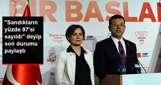 """""""Sandıkların Yüzde 97'si Sayıldı"""" Deyip İstanbul'daki Son Durumu Paylaştı"""