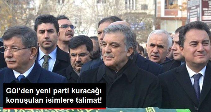Abdullah Gül'den Babacan ve Davutoğlu'na Talimat