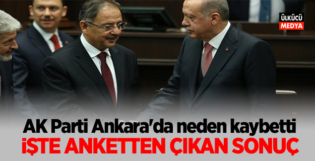 AK Parti Ankara'da neden kaybetti! İşte anketten çıkan sonuç