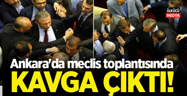 Ankara'da meclis toplantısında kavga çıktı
