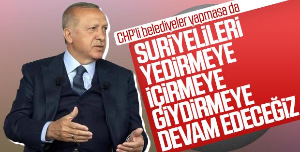 Erdoğan açıkladı: Suriyelilere yardımlar devam edecek