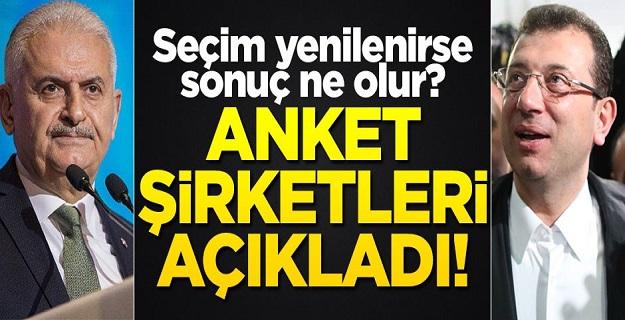 İstanbul'da seçim yenilenirse sonuç ne olur? Anket şirketleri açıkladı!