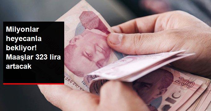 Maaşlar 323 Lira Artacak