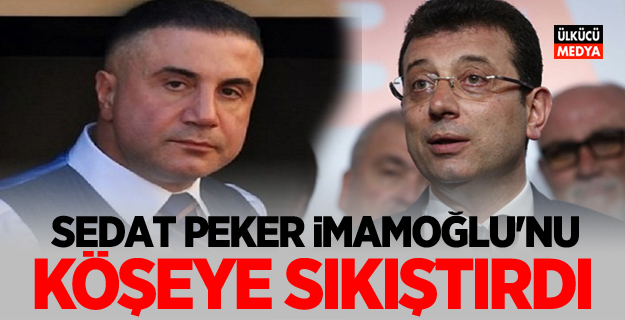 Sedat Peker, Ekrem İmamoğlu'nu köşeye sıkıştırdı
