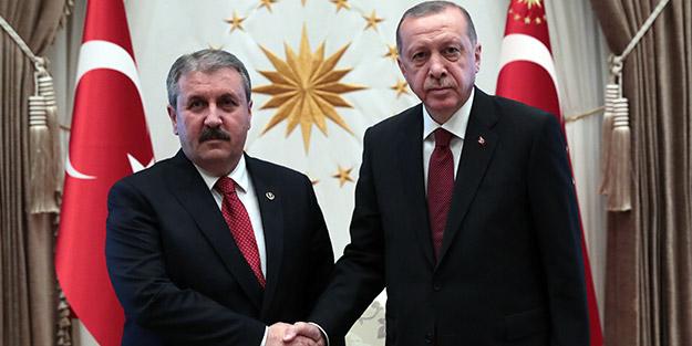 Cumhurbaşkanı Erdoğan Destici ile görüştü