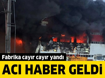 Kocaeli'de fabrika yangını, 4 işçi hayatını kaybetti