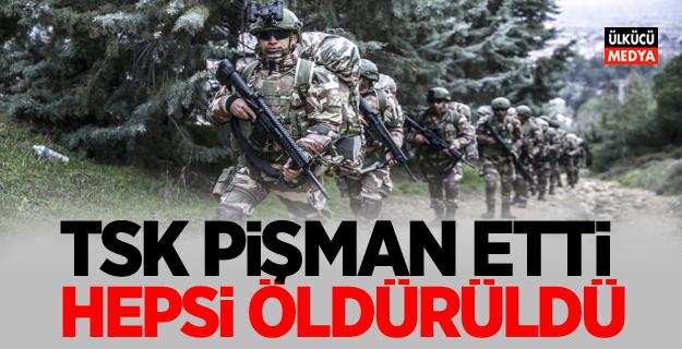 TSK pişman etti! Teröristlerin Hepsi öldürüldü