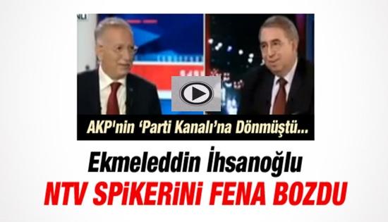 İHSANOĞLU'DAN NTV SPİKERİNE AKP AYARI !