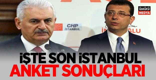 İşte Son İstanbul Anket Sonuçları! Binali Yıldırım mı, İmamoğlu mu?