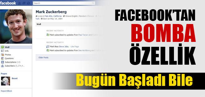 Facebook'tan bomba özellik !