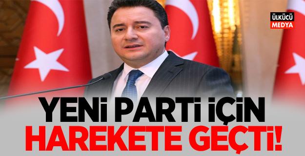 Ali Babacan yeni parti için harekete geçti