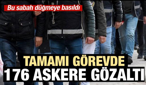 İstanbul'da büyük operasyon: 176 askere gözaltı