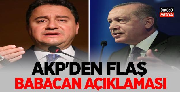 AKP'den Flaş Ali Babacan açıklaması!