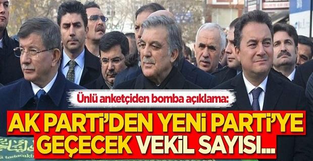 Ünlü anketçiden bomba açıklama: AK Parti'den yeni partiye geçecek vekil sayısı...