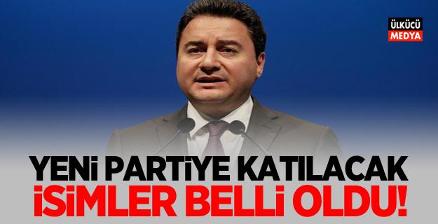İşte Ali Babacan'ın yeni partisine katılacak isimler!