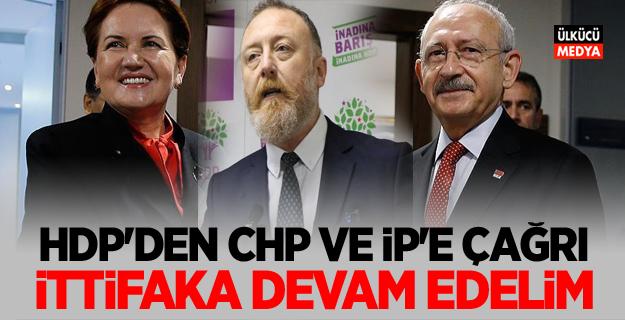 Terör örgütü PKK'nın siyasi kolu HDP'den CHP ve İYİ Parti'ye çağrı