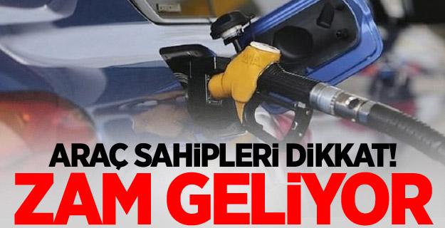 Araç sahipleri dikkat! Benzin ve motorin fiyatlarına zam geliyor!