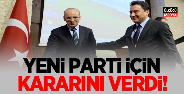 Mehmet Şimşek Yeni Parti için kararını verdi