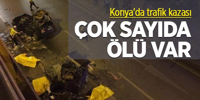 Konya'da trafik kazası! Çok sayıda ölü var